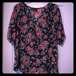 Torrid button up blouse